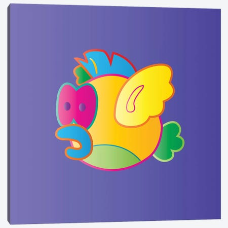 Gigifish Canvas Print #TDR148} by TECHNODROME1 Canvas Print