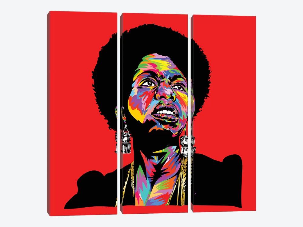 Nina Simonedrome by TECHNODROME1 3-piece Canvas Artwork