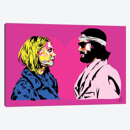 Bomber y Margo Canvas Print #TDR14} by TECHNODROME1 Canvas Wall Art