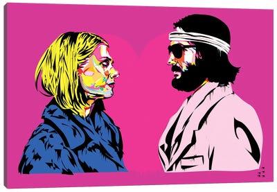 Bomber y Margo Canvas Art Print