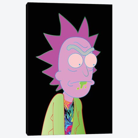 Rick Canvas Print #TDR151} by TECHNODROME1 Canvas Art
