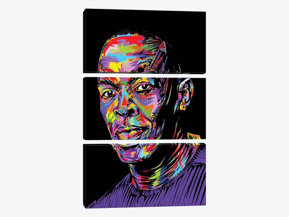 Dr. Dre by TECHNODROME1 3-piece Canvas Print