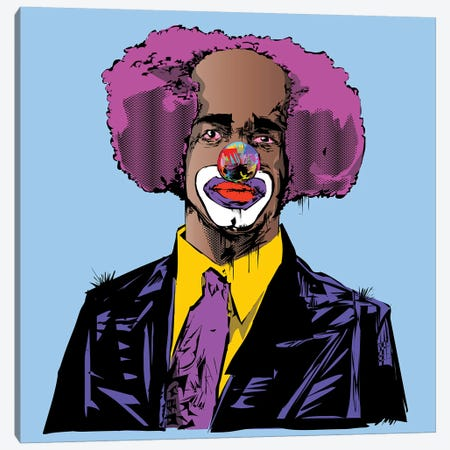 Homey D. Clown Canvas Print #TDR158} by TECHNODROME1 Canvas Artwork