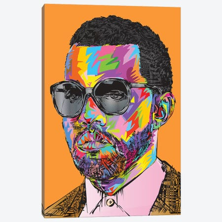 Kanye Old Canvas Print #TDR159} by TECHNODROME1 Canvas Artwork
