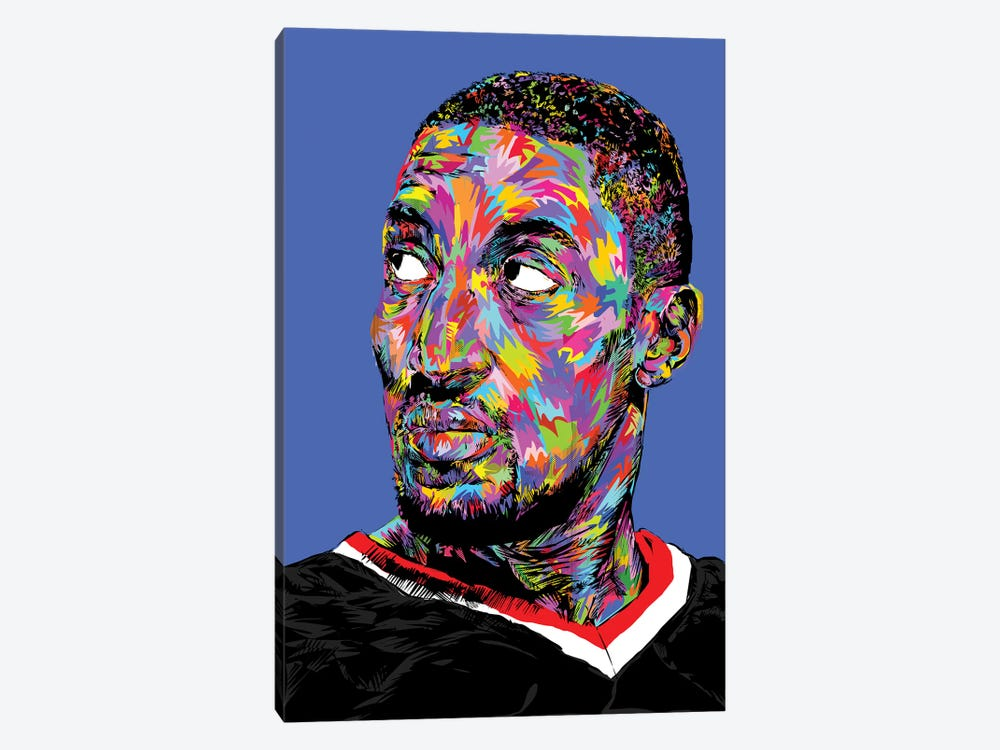 Scottie Pippen by TECHNODROME1 1-piece Canvas Artwork