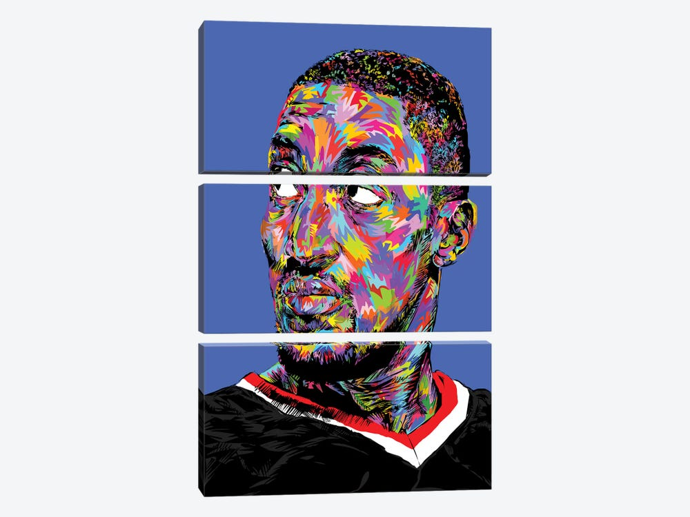 Scottie Pippen by TECHNODROME1 3-piece Canvas Artwork
