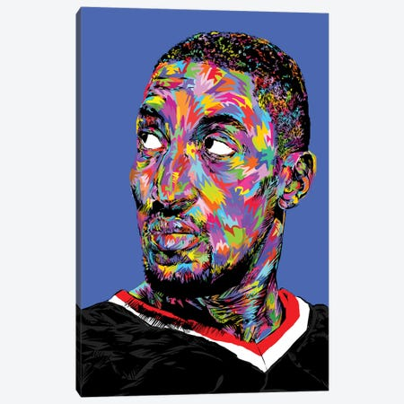 Scottie Pippen Canvas Print #TDR163} by TECHNODROME1 Art Print