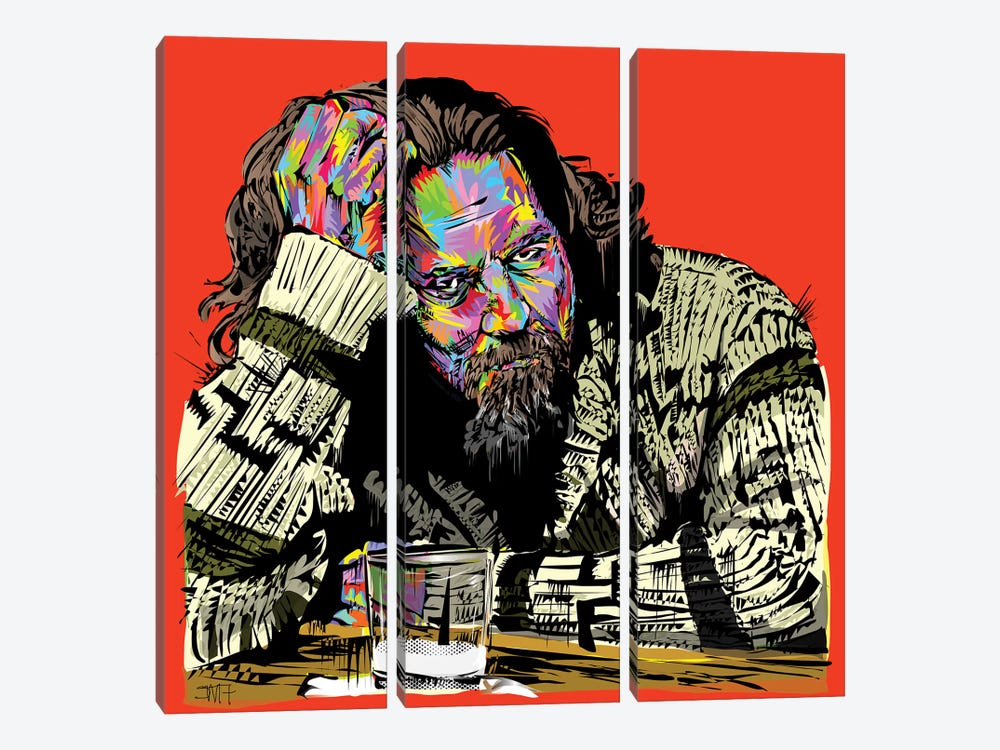 The Dude by TECHNODROME1 3-piece Canvas Wall Art