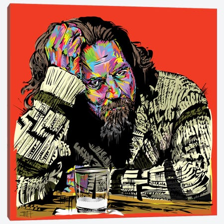 The Dude Canvas Print #TDR167} by TECHNODROME1 Canvas Art