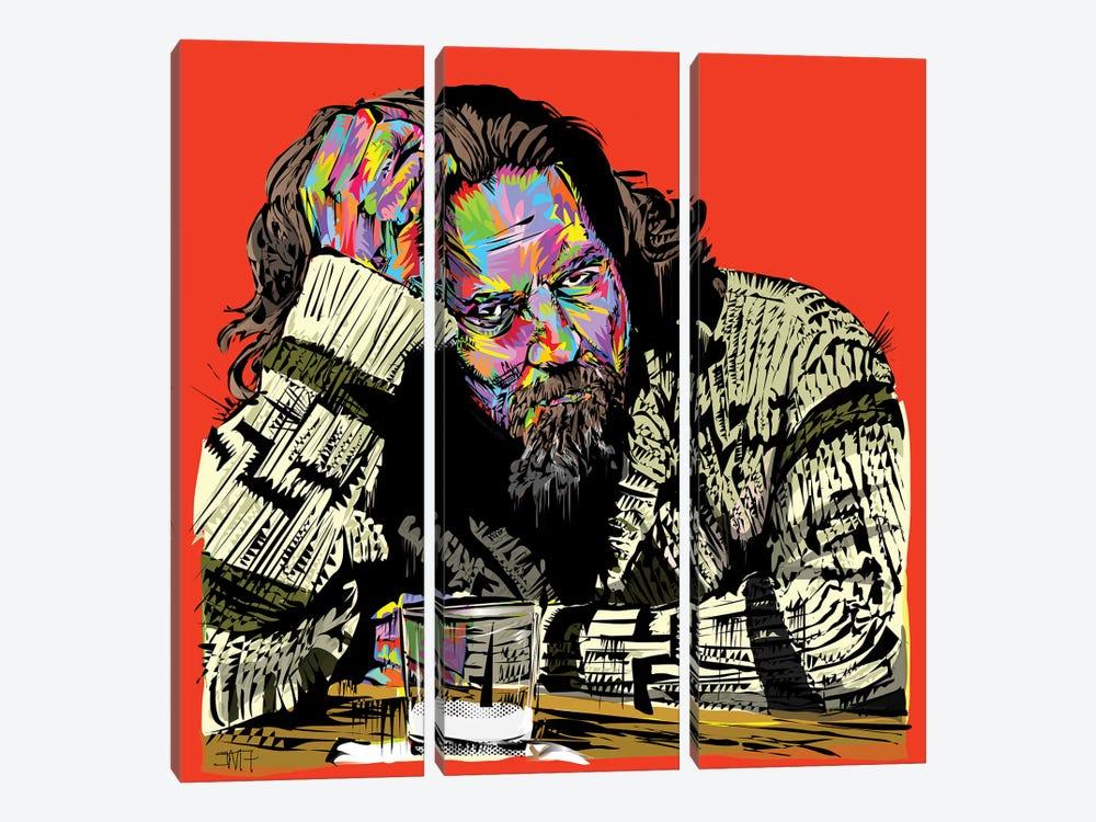 The Dude by TECHNODROME1 3-piece Canvas Wall Art