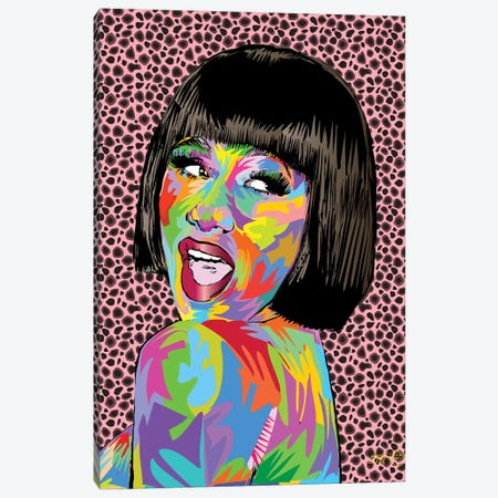 Cardi B. Canvas Print #TDR171} by TECHNODROME1 Canvas Art