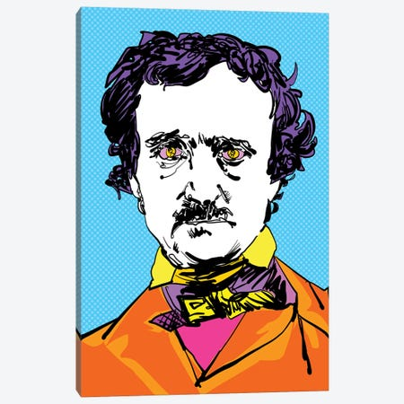 Edgar Allan Canvas Print #TDR175} by TECHNODROME1 Art Print