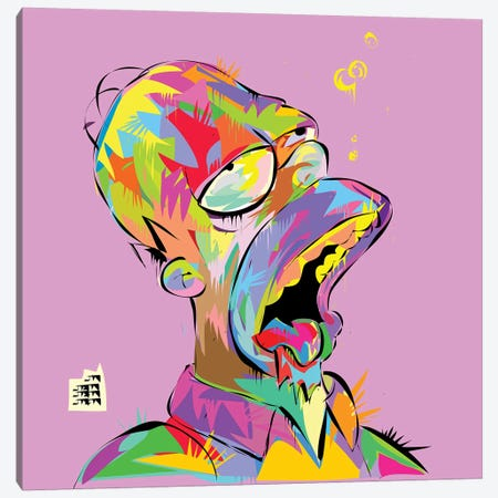 Homer Bubbles Canvas Print #TDR177} by TECHNODROME1 Canvas Print