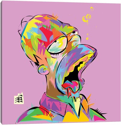 Homer Bubbles Canvas Art Print