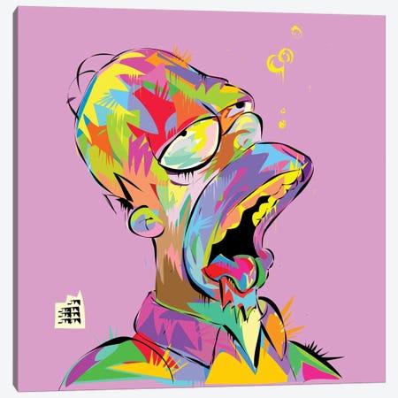 Homer Bubbles Canvas Print #TDR177} by TECHNODROME1 Canvas Print