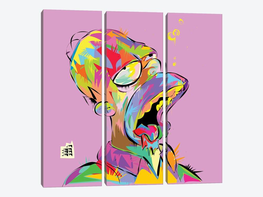 Homer Bubbles by TECHNODROME1 3-piece Art Print