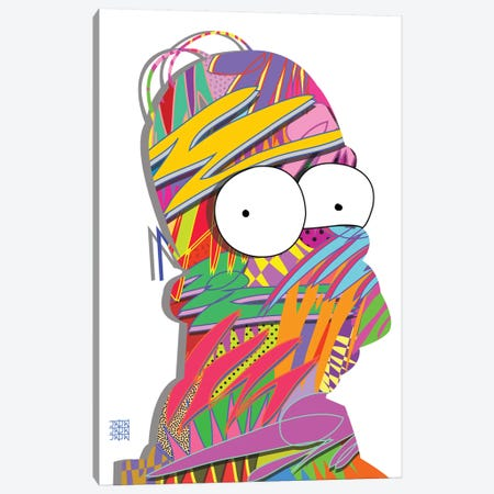 Homerdrome II Canvas Print #TDR178} by TECHNODROME1 Canvas Artwork