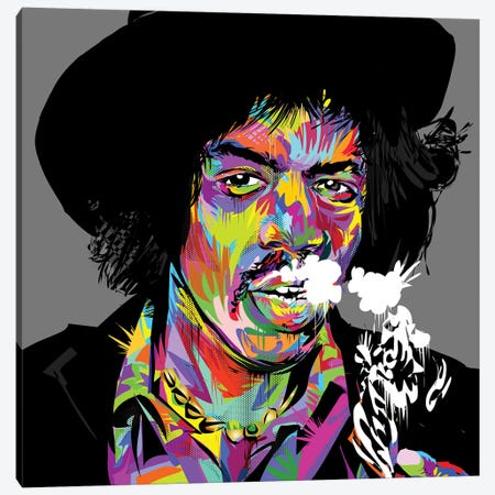 Jimi Hendrix Canvas Print #TDR179} by TECHNODROME1 Canvas Art