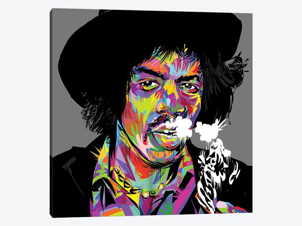 Jimi Hendrix Canvas Wall Art by TECHNODROME1 | iCanvas