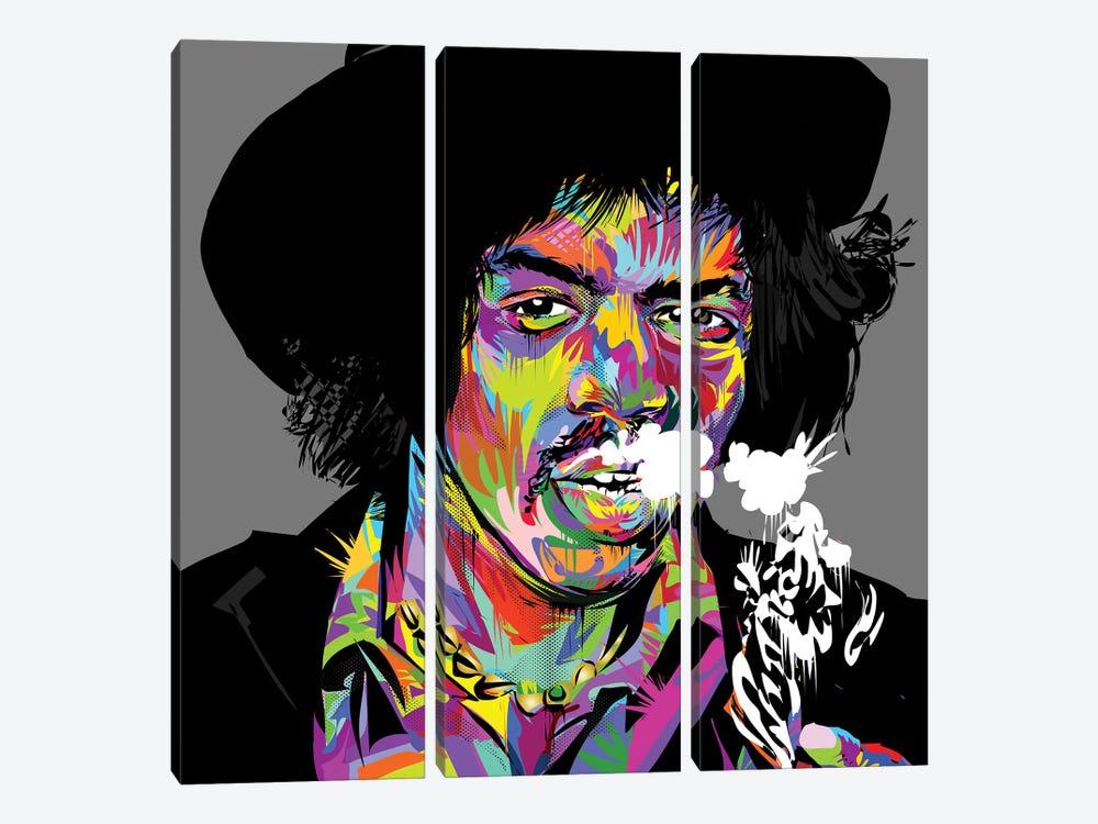 Jimi Hendrix by TECHNODROME1 3-piece Canvas Print