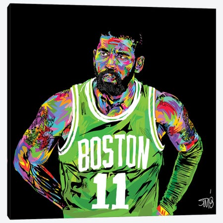 Kyrie Irving Canvas Print #TDR180} by TECHNODROME1 Art Print