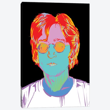 Lennon Canvas Print #TDR181} by TECHNODROME1 Canvas Art Print