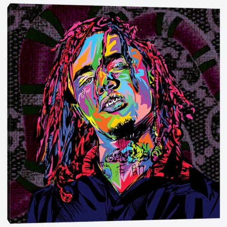 Lil Pump Canvas Print #TDR182} by TECHNODROME1 Canvas Art Print