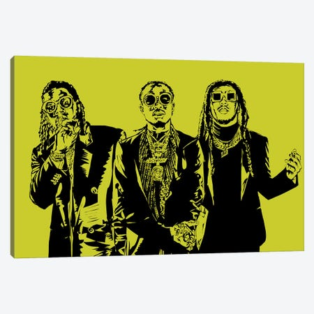 Migos Canvas Print #TDR185} by TECHNODROME1 Canvas Art