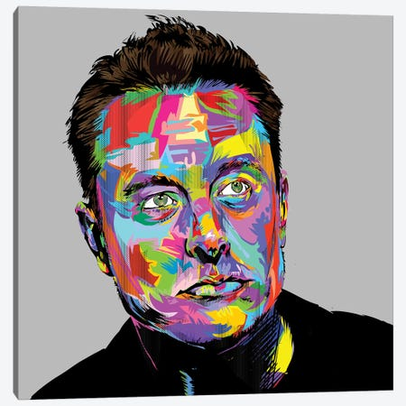 Musk Canvas Print #TDR187} by TECHNODROME1 Canvas Art