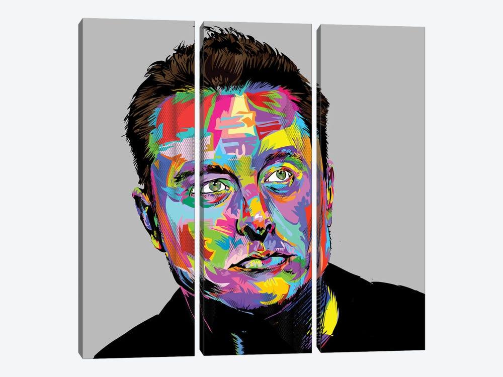 Musk by TECHNODROME1 3-piece Canvas Art