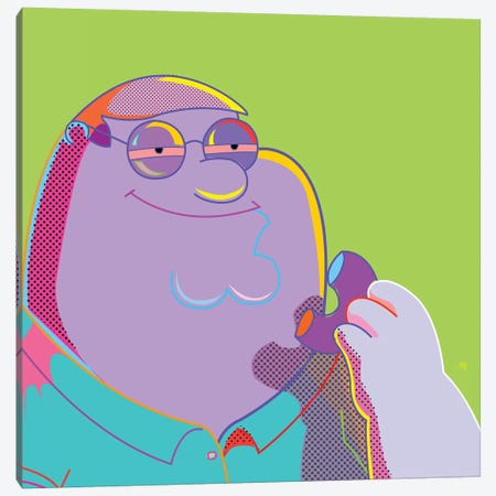 Peter High As Fuck Canvas Print #TDR193} by TECHNODROME1 Canvas Art