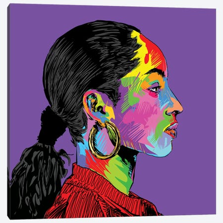 Sade Canvas Print #TDR194} by TECHNODROME1 Art Print