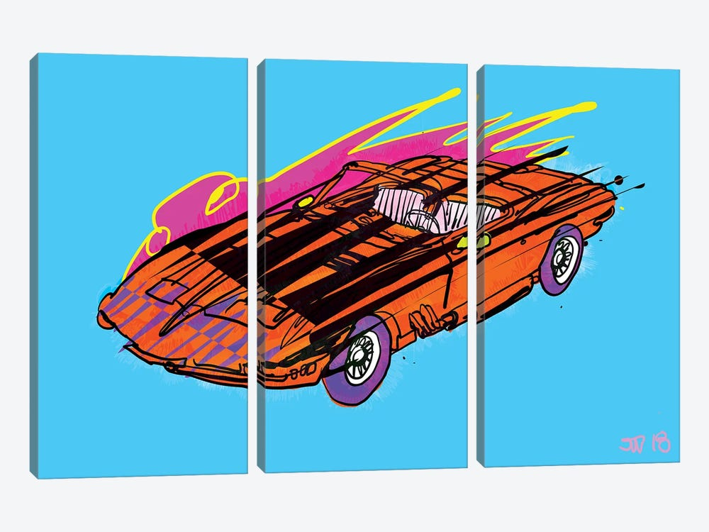 Vroom by TECHNODROME1 3-piece Art Print