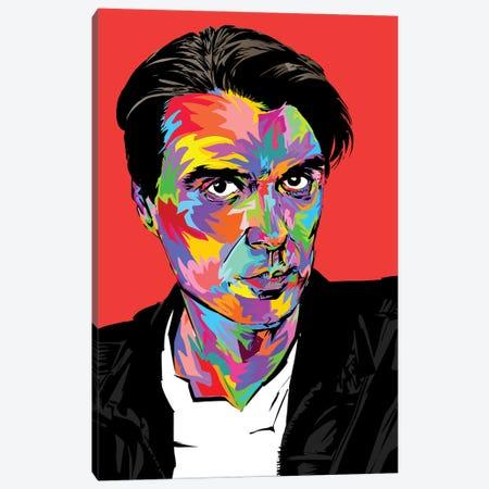 David Byrne Canvas Print #TDR202} by TECHNODROME1 Canvas Artwork