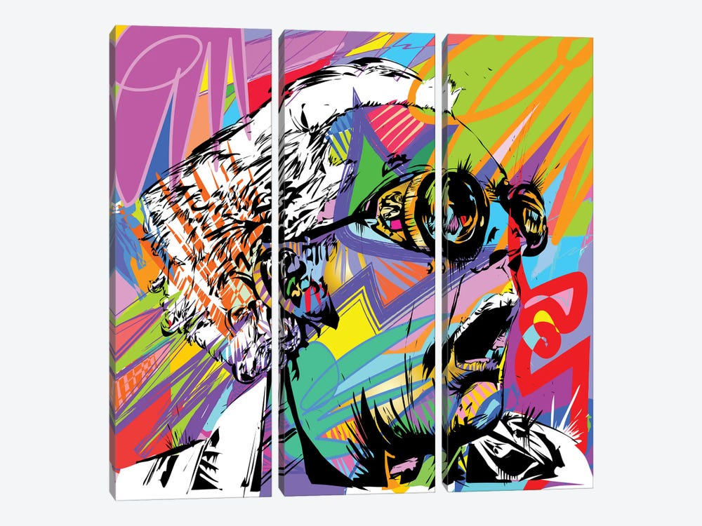 Doc Brown by TECHNODROME1 3-piece Canvas Print