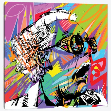 Doc Brown Canvas Print #TDR204} by TECHNODROME1 Canvas Print