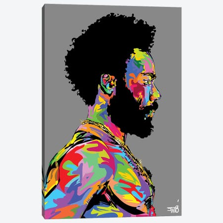 Donald Glover Canvas Print #TDR206} by TECHNODROME1 Canvas Print