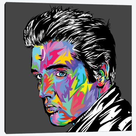 Elvis 3-Piece Canvas #TDR208} by TECHNODROME1 Canvas Art