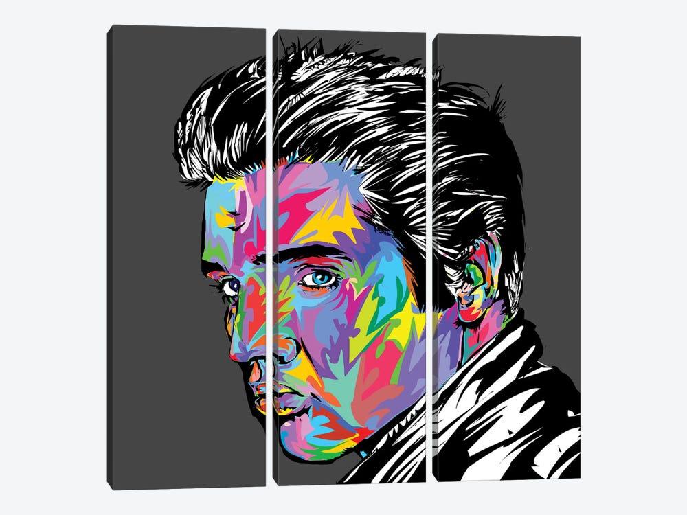 Elvis by TECHNODROME1 3-piece Canvas Print