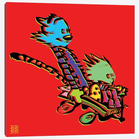 Calvin & Hobbes Canvas Print #TDR20} by TECHNODROME1 Canvas Artwork