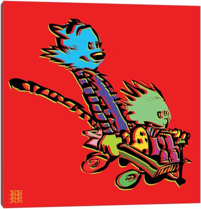 Calvin & Hobbes Canvas Art Print
