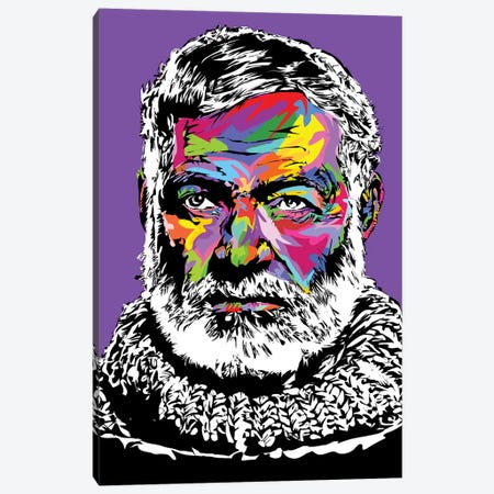 Hemingway Canvas Print #TDR215} by TECHNODROME1 Canvas Art