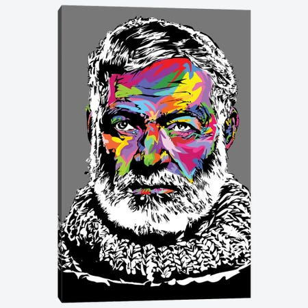 Hemingway4 Canvas Print #TDR216} by TECHNODROME1 Canvas Artwork