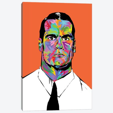 Henry Rollins Canvas Print #TDR217} by TECHNODROME1 Canvas Wall Art