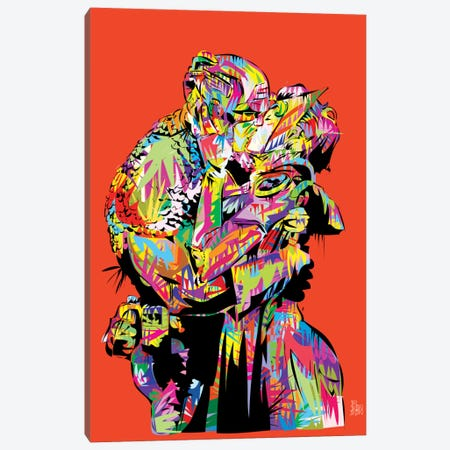 Captain A (The Kiss) Canvas Print #TDR21} by TECHNODROME1 Canvas Art