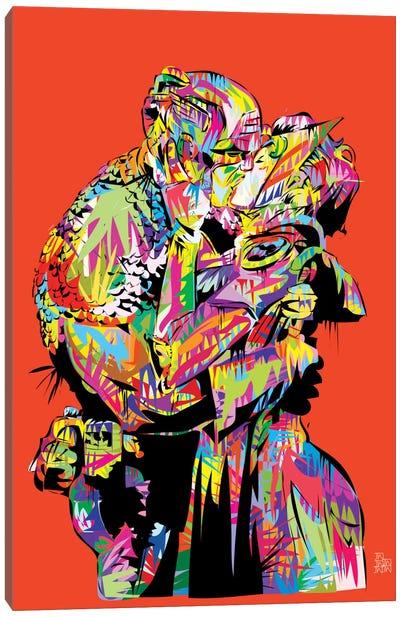 Captain A (The Kiss) Canvas Art Print