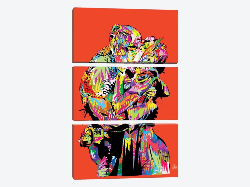 Captain A (The Kiss) by TECHNODROME1 3-piece Art Print