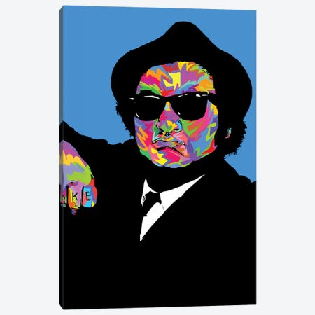 John Belushi Canvas Print #TDR220} by TECHNODROME1 Canvas Wall Art