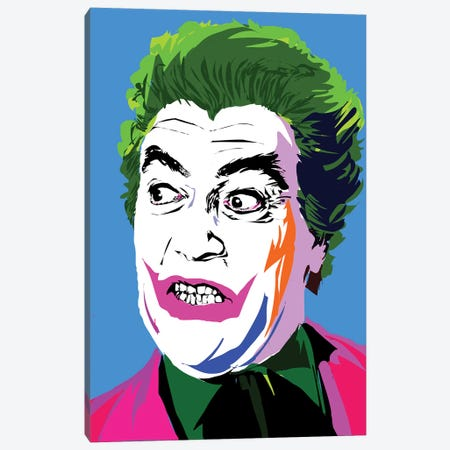 Joker Classic Canvas Print #TDR222} by TECHNODROME1 Canvas Artwork