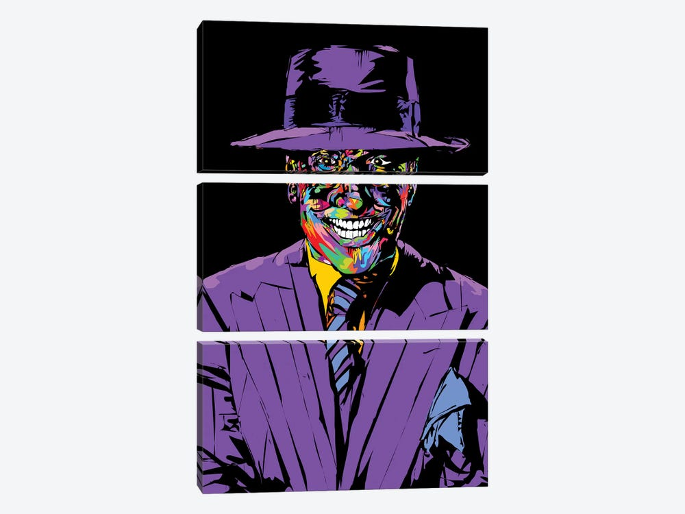Joker Nicholson by TECHNODROME1 3-piece Canvas Wall Art